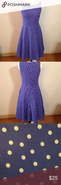 Beautiful dress Beautiful blue with polka dots dress Apt. 9 Dresses Asymmetrical