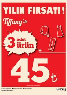 Yılın fırsatı Espark Tiffany'de!  Seçili ürünlerden üç adet al sadece 45 TL öde