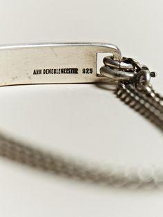 Ann Demeulemeester Men's Silver Plate Bracelet | LN-CC