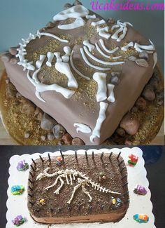 3D Dinosaur Cake Ideas, Dinosaur Fossil Cake Ideas