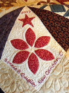 close up, Dear Jane quilt by Bonnie B. Quigley.  Photo by Norma Whaley.