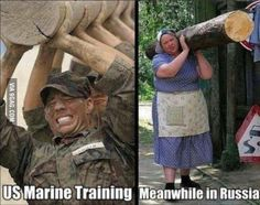 US Marine Training / Meanwhile in Russia--lol! Funny Shit, Haha Funny, Funny Cute, Funny Jokes, Hilarious, Funny Humour, Meanwhile In Russia, Us Marines, Funny Bunnies