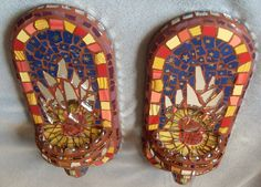 Mosaic Wall Sconces - SOLD | by dumblady mosaics