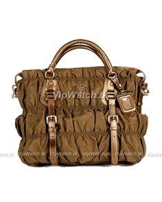 01b7684993d Prada Ruched Tessuto Gauffre Handbag Gold Gold Handbags, Hermes Handbags,  Coach Handbags, Louis