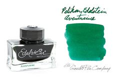 Fountain Pen Ink | Pelikan Edelstein Aventurine - 50ml | GouletPens.com