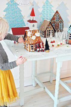 christmas, maison en biscuits, maison noël gateau!!! Bebe'!!! Gingerbread Castle!!!