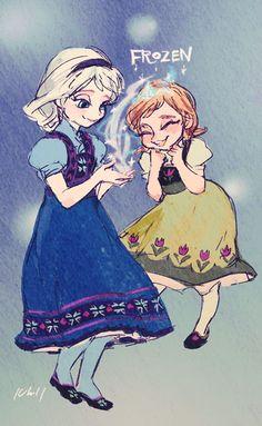 Disney's Frozen   Walt Disney Animation Studios / Anna and Elsa / 「姉妹かわいい」/「うんチャン」の漫画 [pixiv] [05]