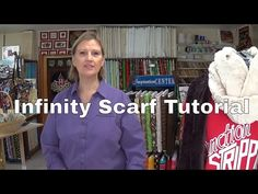 How to make an Infinity Scarf. How To Make Scarf, How To Make Bows, Quilting Tips, Quilting Tutorials, Infinity Scarf Tutorial, Sewing With Nancy, Missouri Star Quilt Tutorials, Sewing Patterns, Scarf Patterns