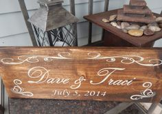 Great, affordable sign for your deck, porch or patio decor!      7.25 x 20 inches    Create your own family name sign or couples sign, complete with or