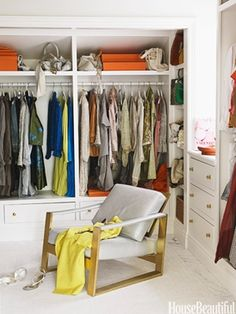 Five chic dressing areas, from a romantic closet with a pink chandelier to an oversize space complet