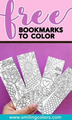 Bookmarks To Color Coloringpages Free Printable