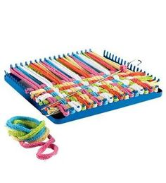 pot holder loom-my dad and I used to make these!