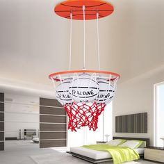159.80$  Watch here - http://alicmj.worldwells.pw/go.php?t=32773646339 - Simple Modern Personality Boy Room Basketball Led pendant lights Warm Romantic Master Bedroom Creative Wooden LED Lamps 159.80$