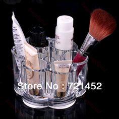 envío gratuito nuevo diseño flor del ciruelo de cosméticos de maquillaje organizador cajones estante de exhibición del gabinete