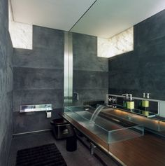 15 Fragrant Contemporary Bathrooms That Celebrate The Style.  @homedit