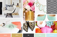 No Designer? No Problem. 6 Tips for DIYing Your Sales Page - Amanda Genther Branding Design, Logo Design, Branding Ideas, Brand Style Guide, Brand Board, Fashion Branding, Blue Gold, Color Inspiration, Style Guides