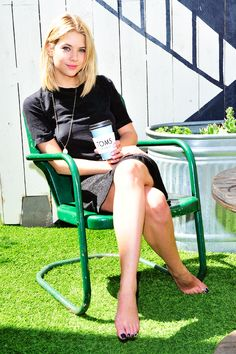 Ashley Benson || TOMS to Go One Day Without Shoes to Raise Global Awareness [April 29]