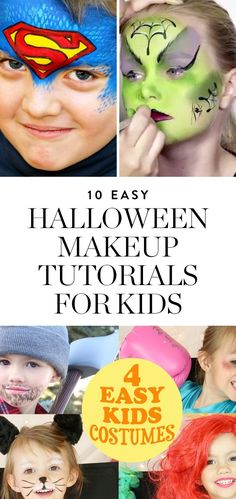 Take your kid's getup to the next level with these easy Halloween makeup tutorials, using child-friendly face paint and step-by-step instructions. #kidshalloweenmakeup #halloween #kidscostumes #kidshalloweencostumes #halloweenmakeup