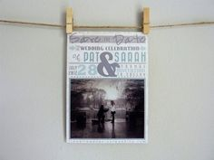 Vintage Inspired Save The Date Postcard - Unique, Custom, Rustic. via Etsy.