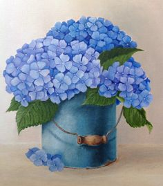 Hydrangea. Oil on canvas. October, 2014 Flower Crafts, Flower Art, Hydrangea Painting, Art Decor, Decoration, Illustration Mode, Decoupage Vintage, Flower Clipart, Fruit Art