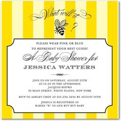 """A great neutral baby shower invite that includes a """"game"""" in the invite itself! Love this one. And it comes with cute envelopes (:"""