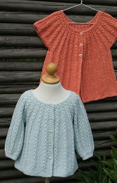 2-in-1 knitting pattern, instructions for both cardigan and vest are given in pattern.