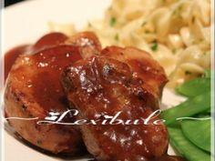 Recette Médaillons de porc, sauce au jus de pomme par Lexibule - Ptitchef