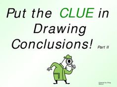 Drawing Conclusions PPT