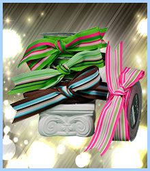 """A grosgrain variegated stripe ribbon that is 1.5"""" and 25 yards to the roll. At $35.95 per roll, this reversible ribbon makes beautiful bows and edges do not fray. This fashion ribbon will enhance any project you have. To see more high quality ribbon options, visit our ribbon page on www.favorsyoukeep.com or call the ribbon team at 512.323.0600. Austin, Texas ~ Since 1987! #weddingguestgiftbag"""