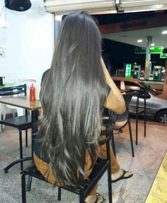 Straight Hairstyles Are Easy Long Dark Hair, Grow Long Hair, Very Long Hair, Grow Hair, Beautiful Long Hair, Gorgeous Hair, Pretty Hair, Silky Hair, Smooth Hair