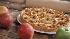 Recipe with video instructions: When one apple pie closes, another delicious one opens. Ingredients: 9 cups Granny Smith apples, diced, 2 tsp cinnamon, 4 Tbsp brown sugar, 1 ½ Tbsp butter, diced, 2 pie crusts, 1 egg yolk, ½ lemon