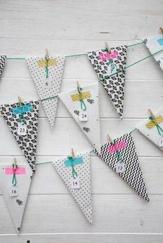 Moma blog: 15 DIY Advent calendar 15 Calendriers de l'avent homemade free printable
