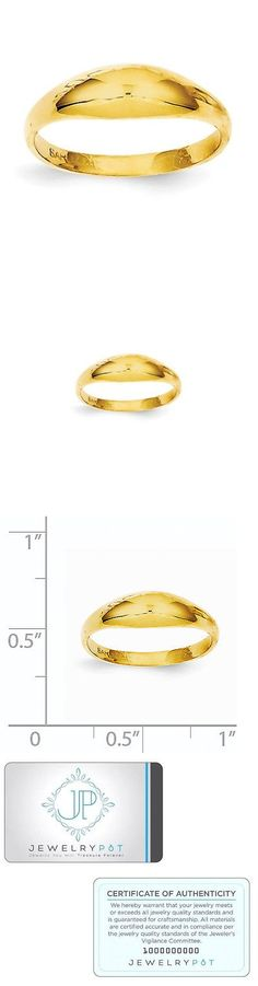 Rings 98477: 14K Yellow Gold Childs Polished Dome Ring -> BUY IT NOW ONLY: $83.99 on eBay!