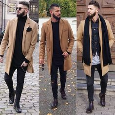 « 1 or 2 or 3 ❓❓❓ Whats your favourite camel Coat Outfit from me ❓❓❓ Please let me Know ⬇️⬇️⬇️ Thx my friends ✌️🙌🙏 Mode Outfits, Fashion Outfits, Camel Coat Outfit, Moda Casual, Men Street, Future Fashion, Gentleman Style, Stylish Men, Swagg
