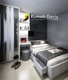 Desain Kamar Master Bedroom Interior Apartemen Jakarta Surabaya Jasarender Renderonline Render3d Rendersketchup