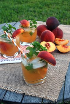 Peach Mojitos - use soda water instead of sprite