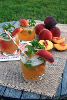 Peach Mojitos - use soda water instead of sprite