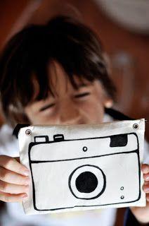 Câmera fotográfica de tecido