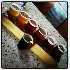 Old candle block used for beer sampler!