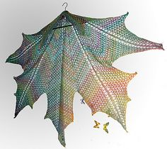 Maple Leaf Crochet Shawl by Elfmoda- wow i can imagine this in silver grey looking  stunning over a black dress, or is that just the elvish side of me coming out?
