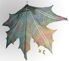 Ravelry: Maple Leaf Crochet Shawl pattern by Natalia @ Elfmoda - for cathleena?