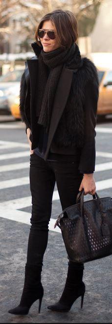 All black in winter