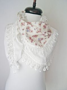 Check out this item in my Etsy shop https://www.etsy.com/uk/listing/279351908/ethnic-lace-scarf-triangle-scarf-white