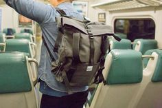 The Tack Sling by SSCY. A tote that converts to a backpack. Two separate compartments and a open center sling for odd shaped objects (like packages and bike wheels) or dirty things (like muddy boots or wet swimwear).