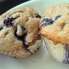 "Blueberry Cream Muffins | ""Rich and delicious blueberry muffins. The secret is the sour cream."""