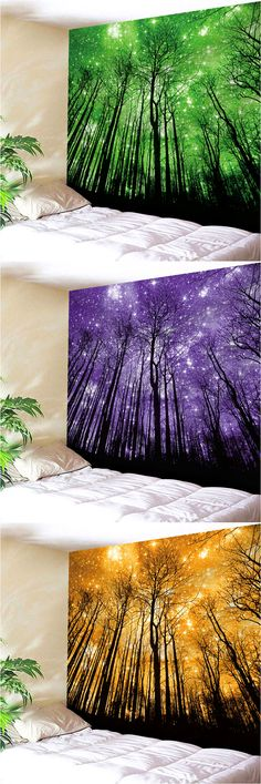 Grove Print Wall Hanging Microfiber Tapestry