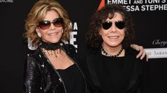 """Jane Fonda and Lily Tomlin who star in the Netflix show """"Grace and Frankie"""""""