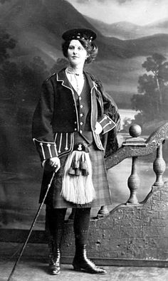 Old photograph of a Scottish Highland Dance teacher from Paisley, Scotland.