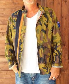 Unisex Camo bomber,unisex jacket,stripes , biker,street style,urban outfitters,racing,hipster clothing,rockabilly,anniversary,cruelty free