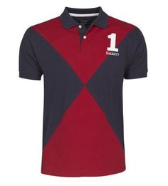 441eb09927f1a collection ralph lauren! Hackett Bonne qualité diamant à manches courtes  Polo rouge marine